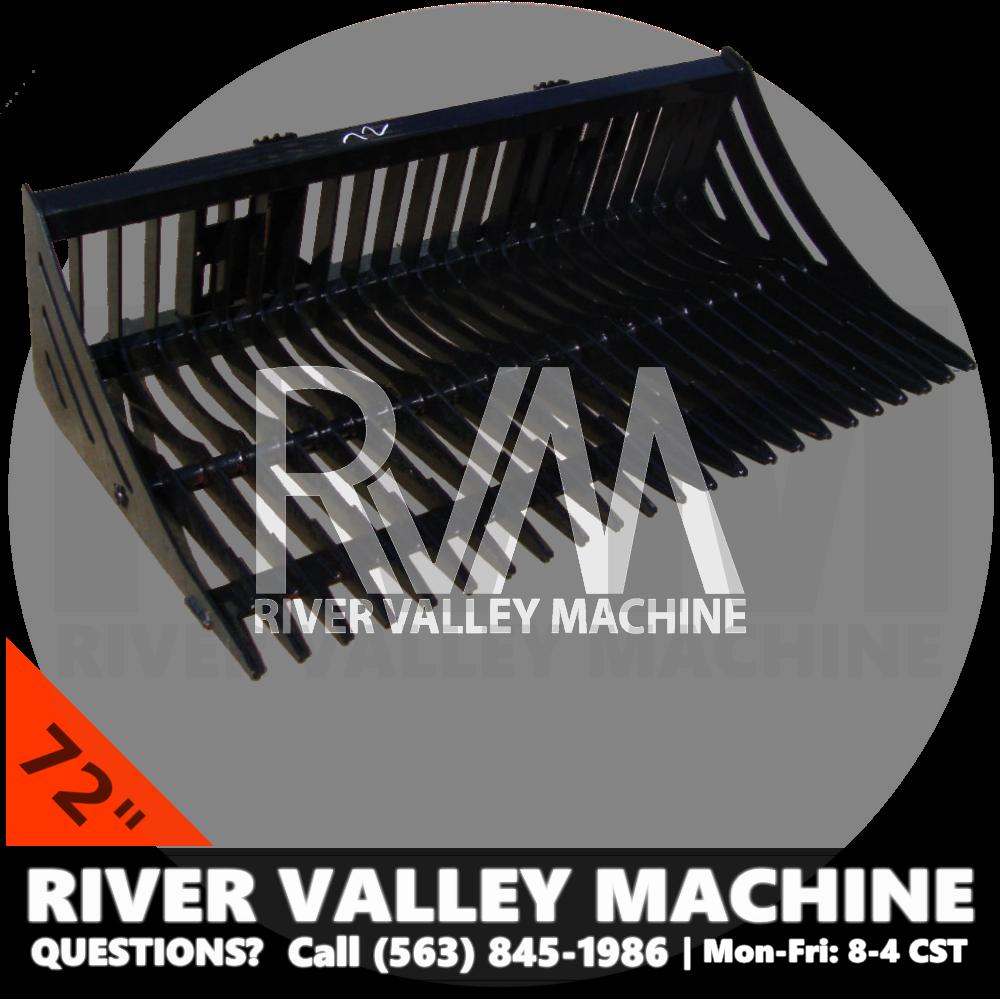 RVM® HD | River Valley Machine Heavy-Duty 72″ Skeleton Bucket