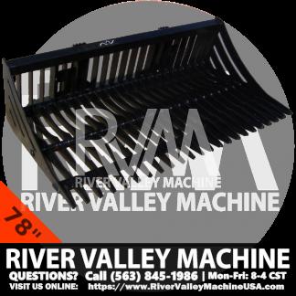 "RVM HD | River Valley Machine Heavy-Duty Skeleton Bucket - 78"""