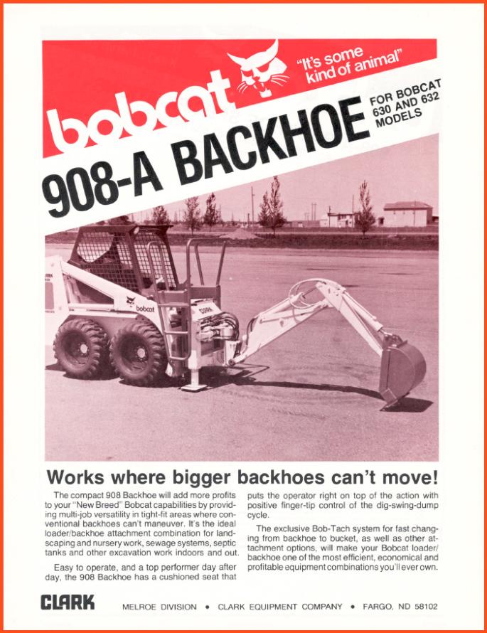 Bobcat 908-A Backhoe Attachment for Bob-Tach @ RVM, LLC | River Valley Machine